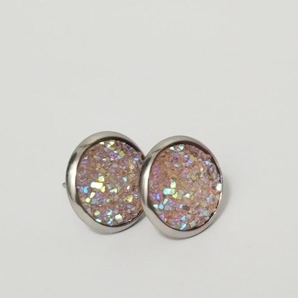New 3/$20 Druzy Earrings 12mm
